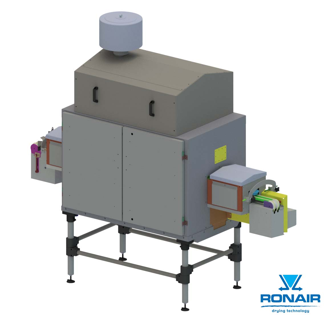 Retrofitted drying solution for doypacks baby food, Ronair
