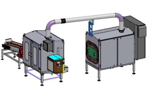 Drying unit for hot melt pillows
