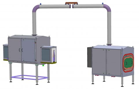 Drying unit for spray bottles